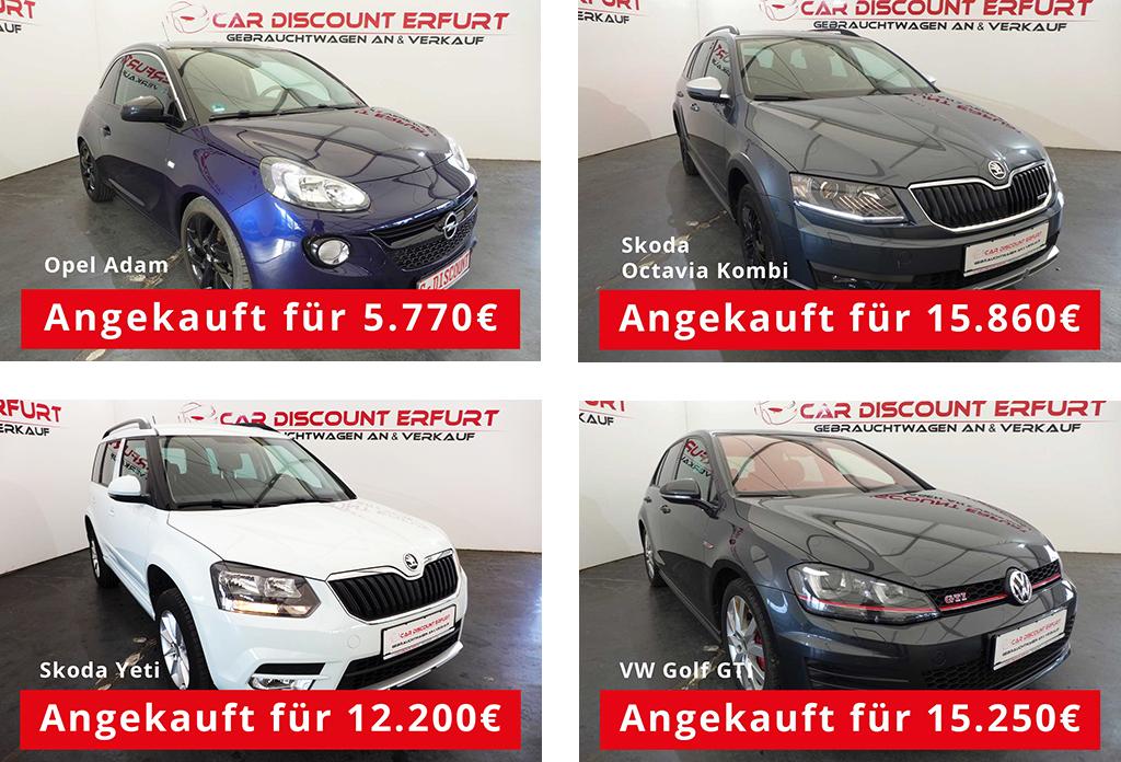Ankauf der Fahrzeuge bei Car Discount